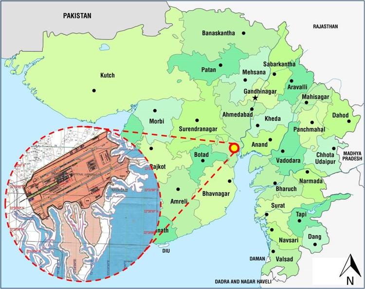 Gujarat Airport Map Gujarat Infrastructure Development Board